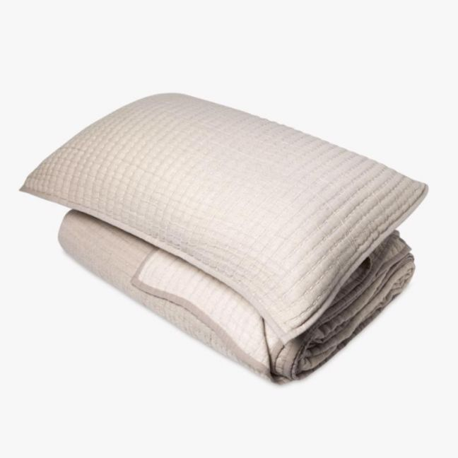 Maddox Sand Quilt   King Bed