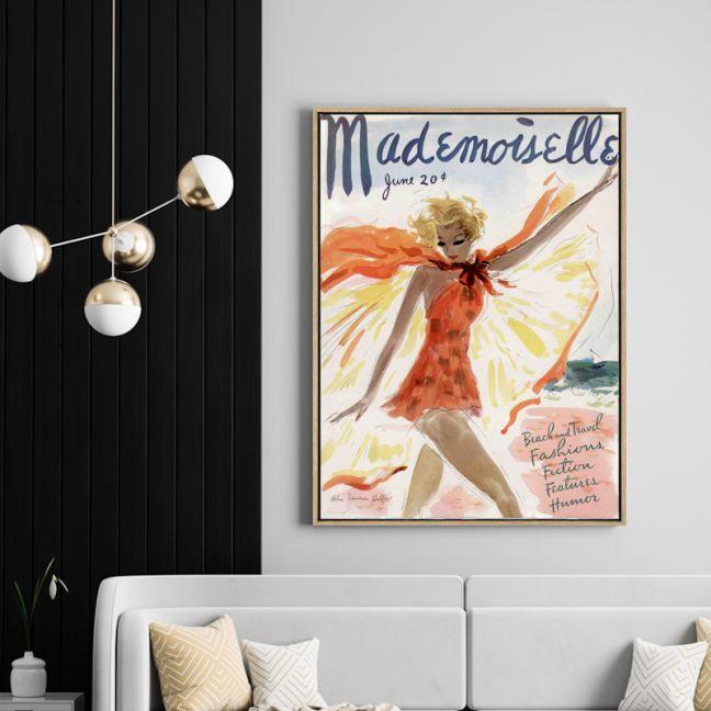 Mademoiselle | Drop Shadow Framed Wall Art