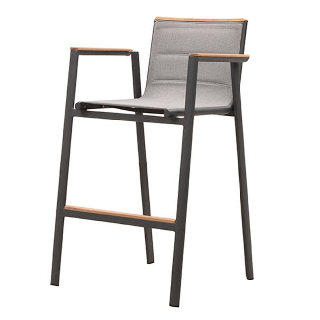 Madrid Bar Height Arm Chair | Charcoal