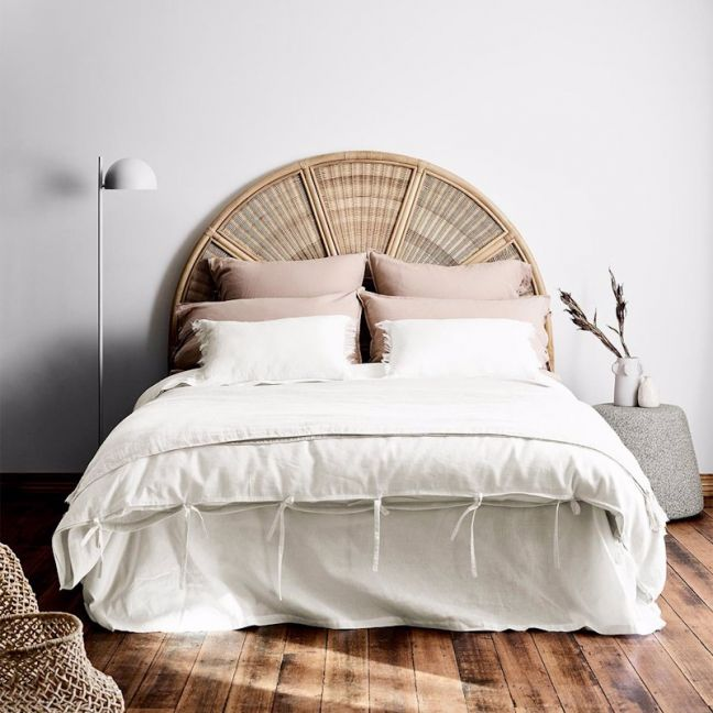 Maison Vintage Quilt Cover | White  | by Aura Home