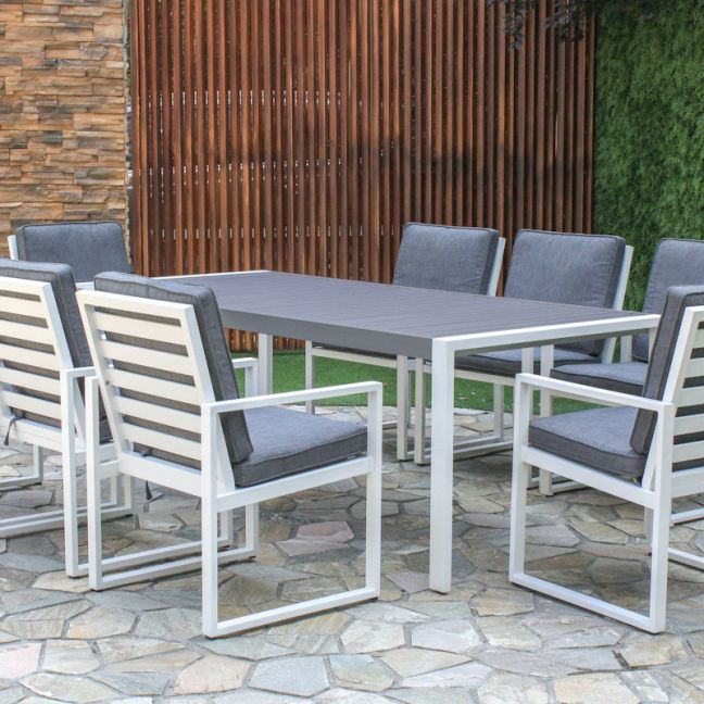 Manly | 9 Piece Aluminium Outdoor Dining Setting