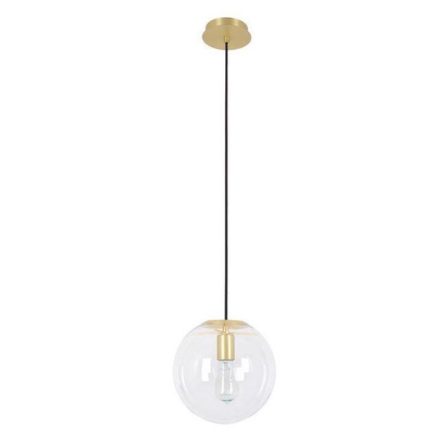 Marcel 250mm Pendant in Clear/Brass | By Beacon Lighting