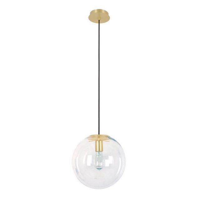 Marcel 300mm Pendant in Clear/Brass | By Beacon Lighting