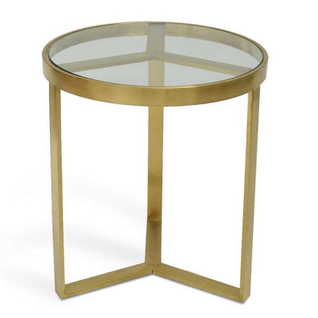 Marcelo 50cm Side Table | Brushed Gold Base | Interior Secrets