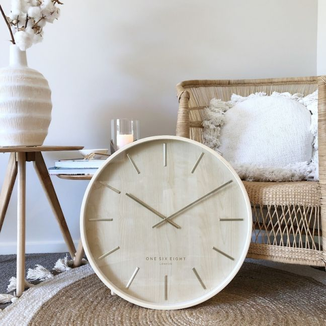 Marcus Wall Clock | Plywood | Silent | 51cm |  One Six Eight London