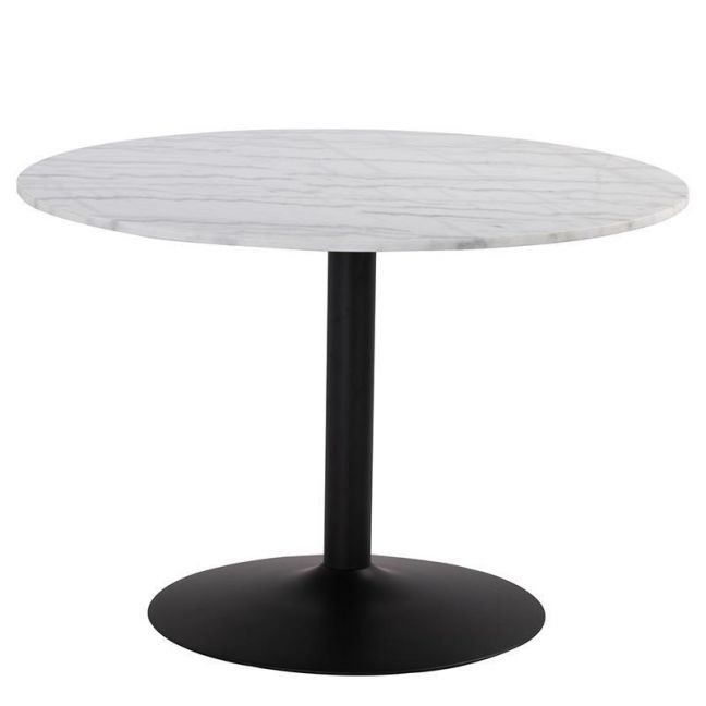 Marmor Marble Dining Table 110Cm   White & Black