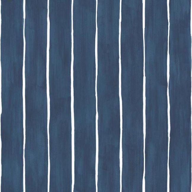 Marquee Stripe Wallpaper - Ink