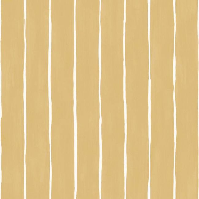 Marquee Stripe Wallpaper - Mustard