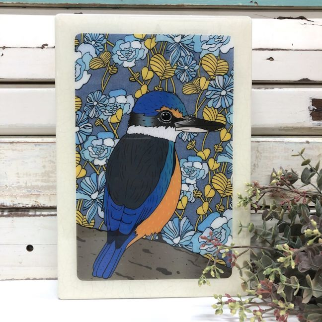 Maxi Woodblock | Sacred Kingfisher