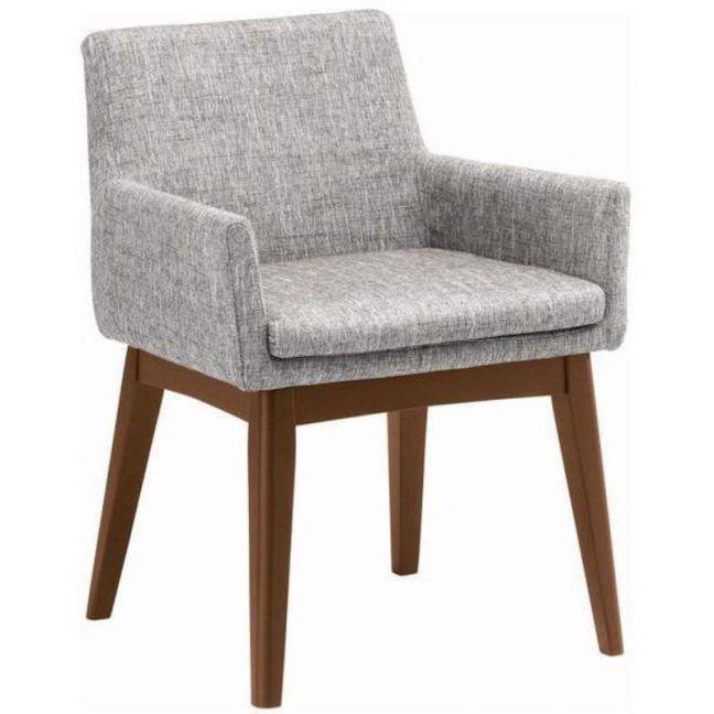 Maya Dining Armchair | Cocoa + Pebble Grey | Modern Furniture