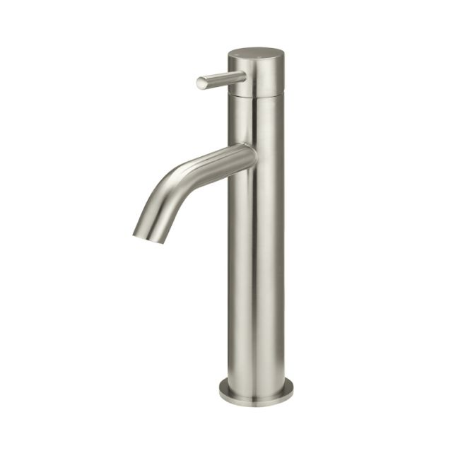 Meir Piccola Tall Basin Mixer Tap | PVD Brushed Nickel