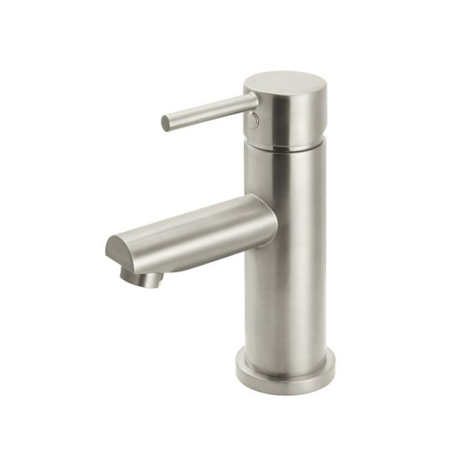 Meir Round Basin Mixer | PVD Brushed Nickel
