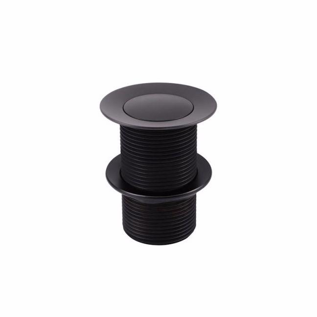 Meir Round Matte Black Basin Pop Up Waste 32mm - No Overflow / Unslotted