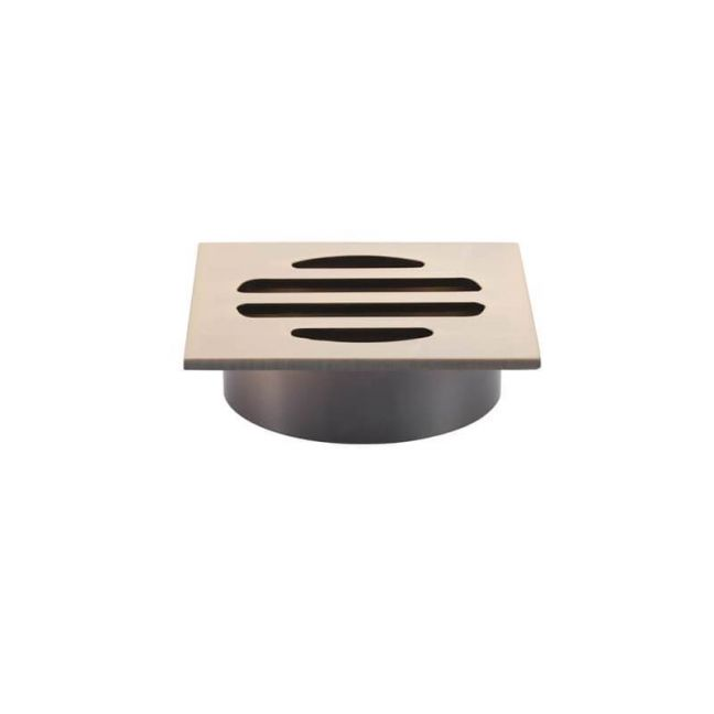 Meir Square Champagne Shower Floor Grate 50mm