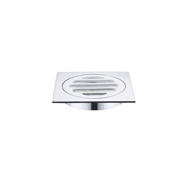Meir Square Chrome Floor Grate Shower Drain 80mm outlet