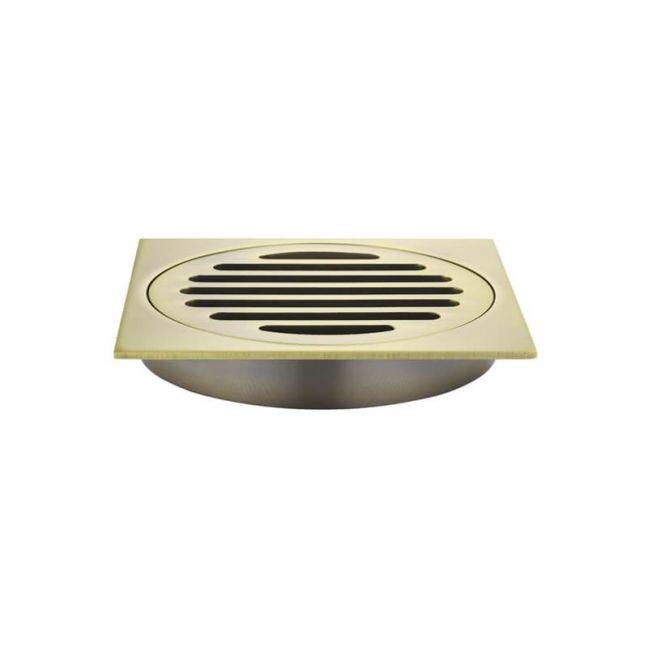 Meir Square Floor Grate Shower Drain 100mm outlet - Tiger Bronze Gold