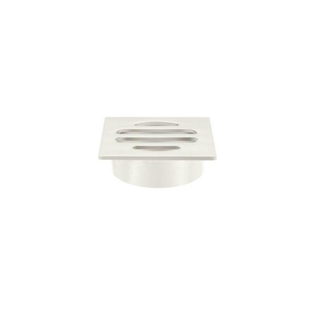 Meir Square Floor Grate Shower Drain | 50mm Outlet | Brushed Nickel