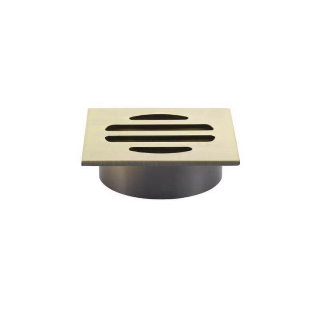 Meir Square Floor Grate Shower Drain 50mm outlet - Tiger Bronze Gold