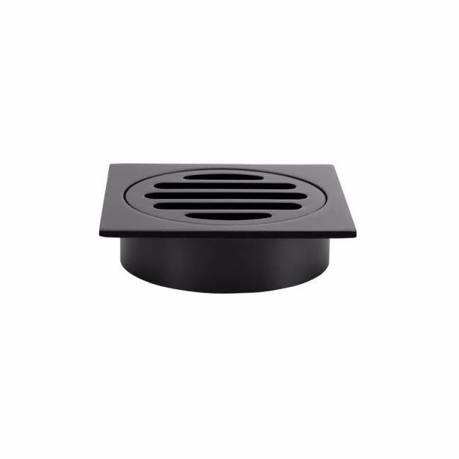 Meir Square Floor Grate Shower Drain 80mm outlet | Matte Black