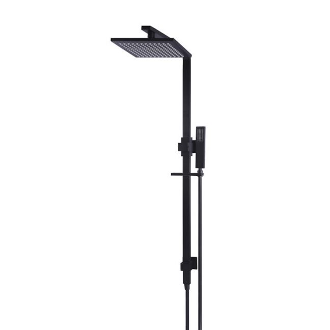 Meir Square Matte Black Combination Shower Rail