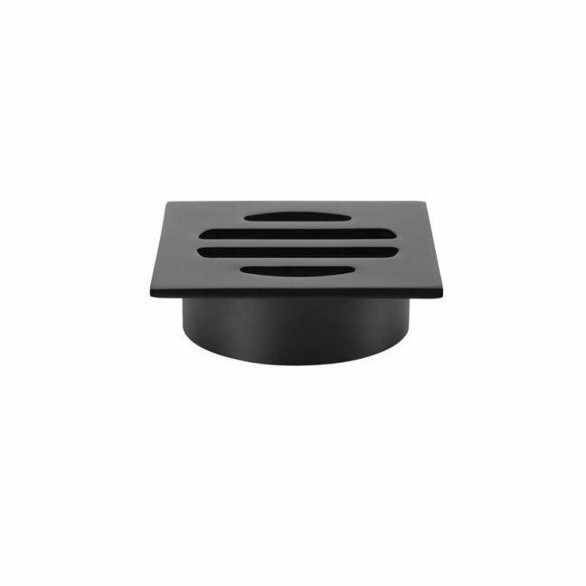 Meir Square Matte Black Floor Grate Shower Drain 50mm outlet