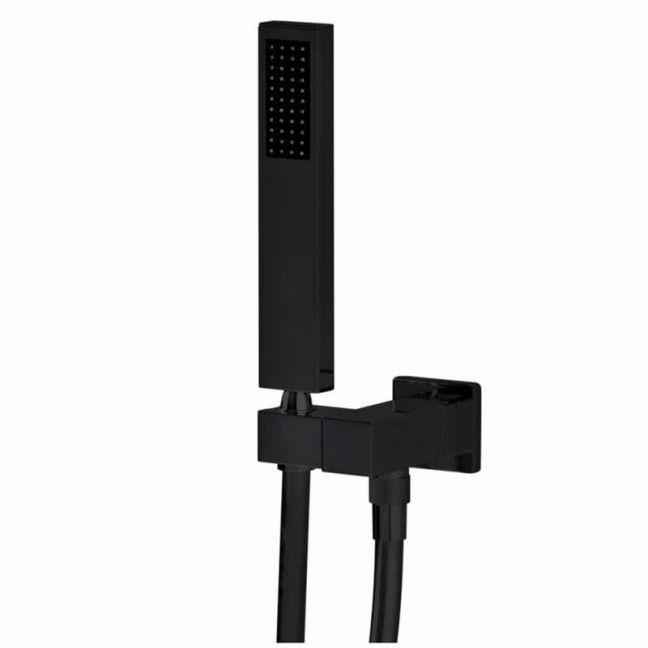 Meir Square Shower on Bracket   Matte Black   MZ05