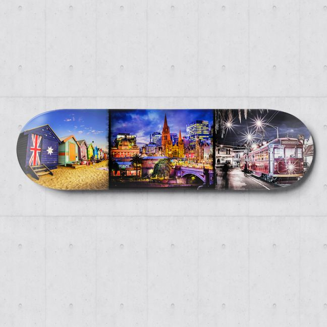 Melbourne Photography | Skateboard Deck Wall Art | Blue Herring