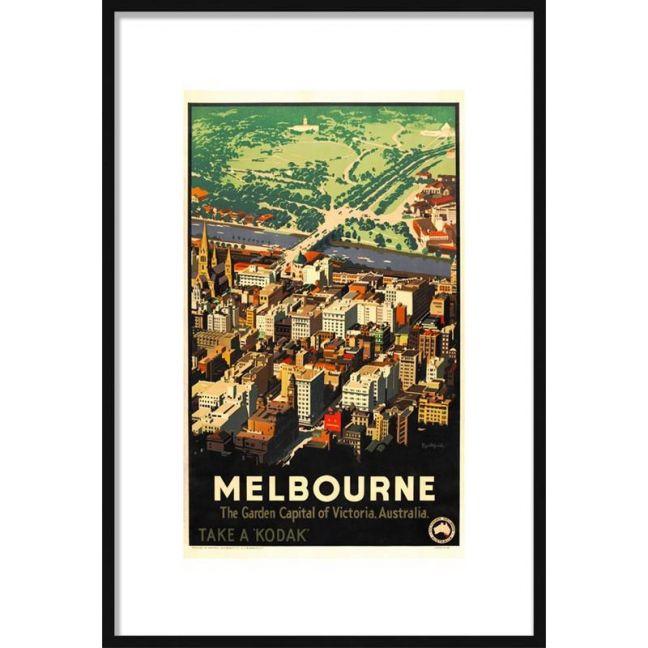 Melbourne Vintage Poster | Framed