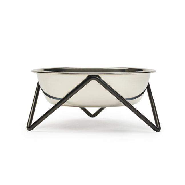 Meow | Cat Stand & Bowl | Black