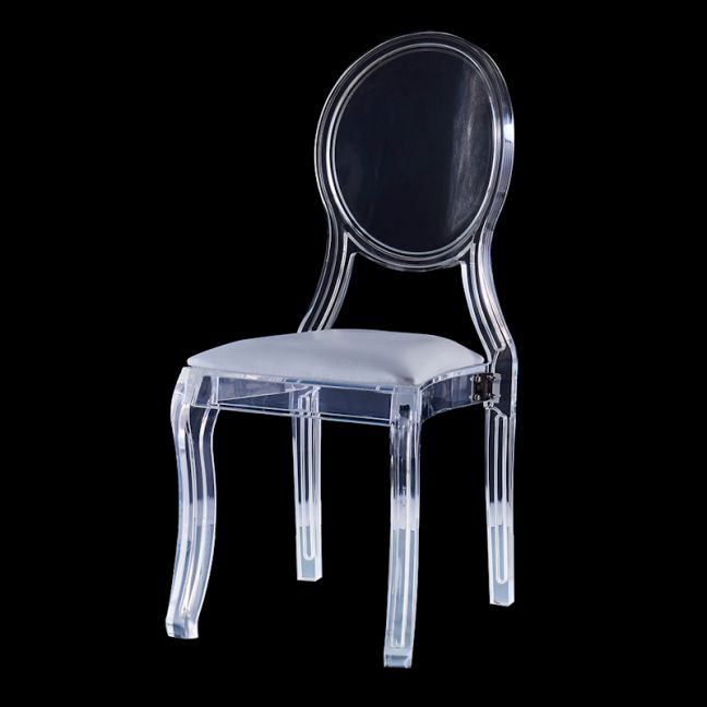 Merriam Lucite Acrylic Chair with Oval Backrest | Customisable