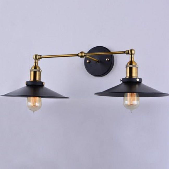 Metal Filament Double Wall Light Steel