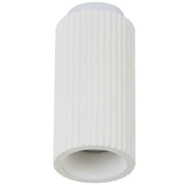 MFL By Masson Gypsum Ribbed Surface Mounted White Downlight   Beacon Lighting