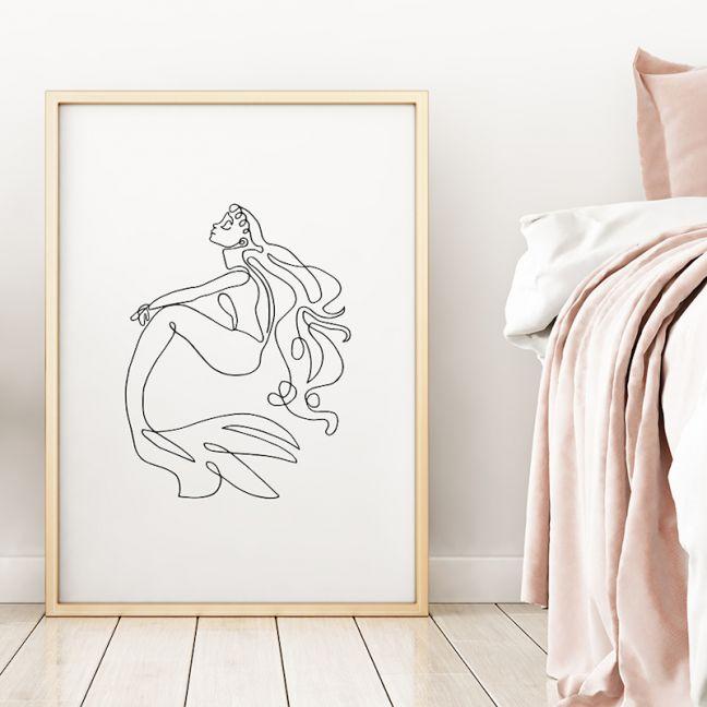 Mia | Mermaid Art Print | Framed or Unframed