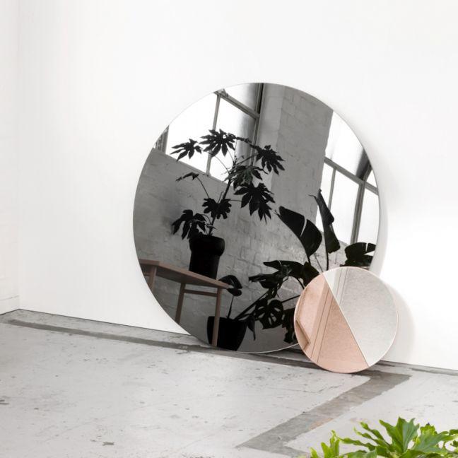 Mia Round Grey Tinted Mirror | Storm | 90 cm