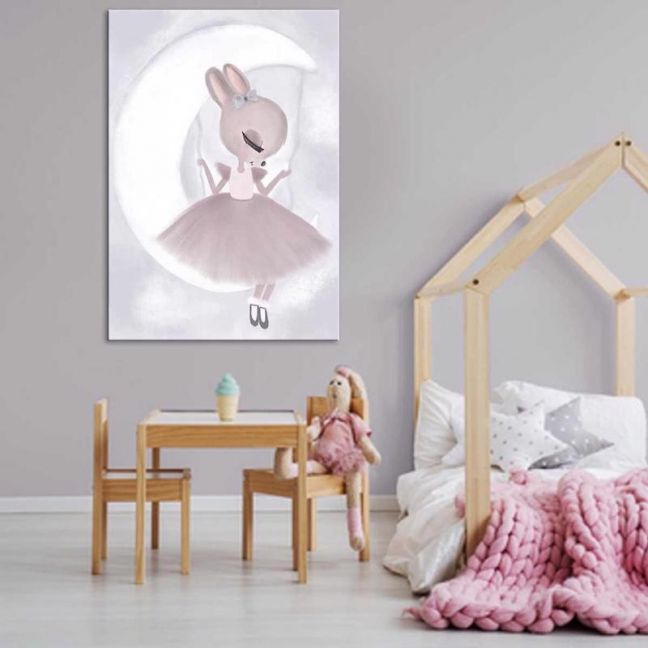 Mia Swining In The Clouds | Canvas Print By United Interiors