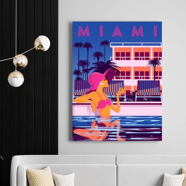 Miami Nights   Canvas Wall Art