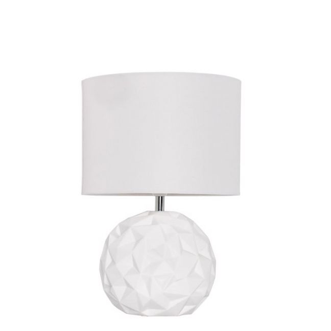 Milla 2 Light Round Table Lamp in White   By Beacon Lighting