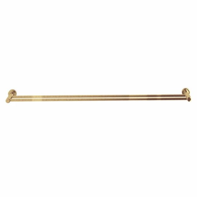 Milli Pure Double Towel Rail 780mm Living Tumbled Brass   Reece