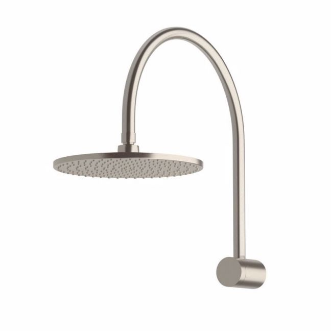 Milli Pure Hi-Rise Shower 250mm Curved Brushed Nickel (3 Star)   Reece