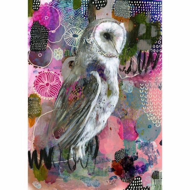 Millie the Owl | Framed Art Print
