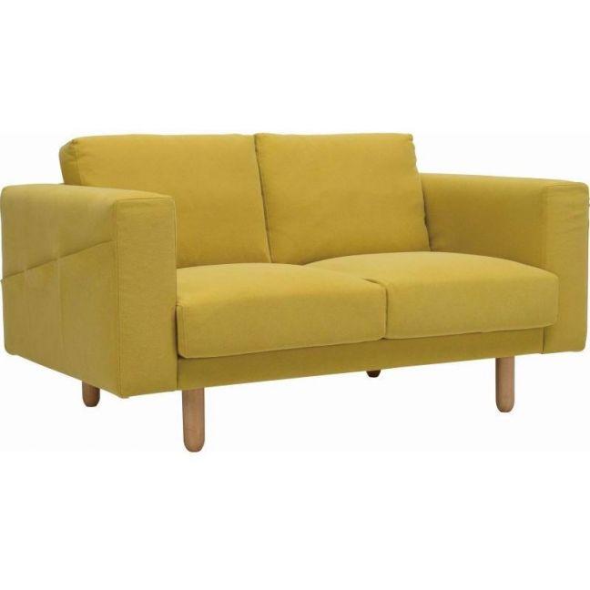 Minex 2 Seater Sofa - Turmeric