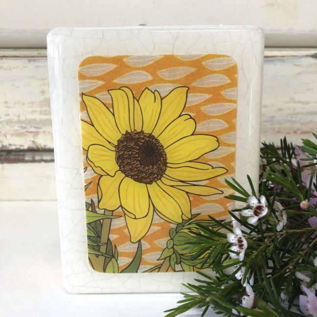 Mini Woodblock | Sunflower
