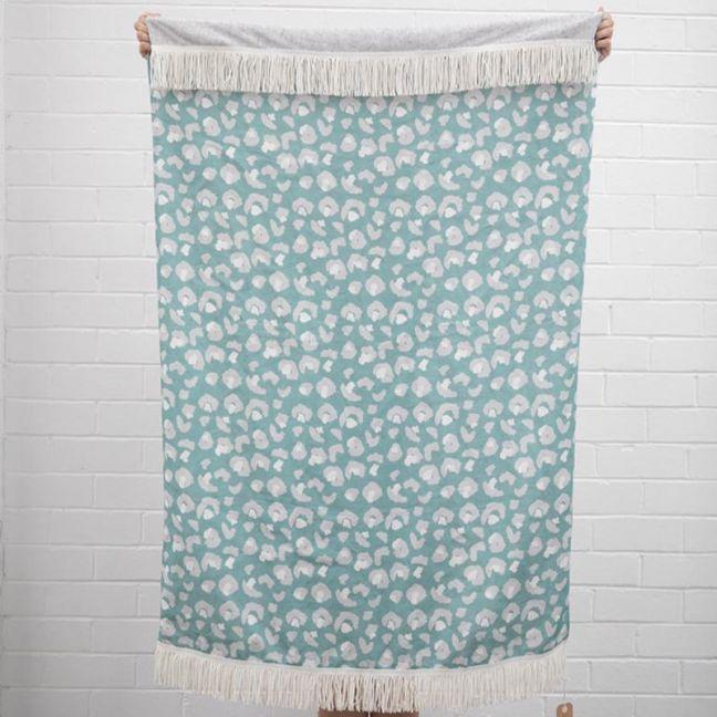 Mint Animal Print Linen Throw I Jak & Co Design