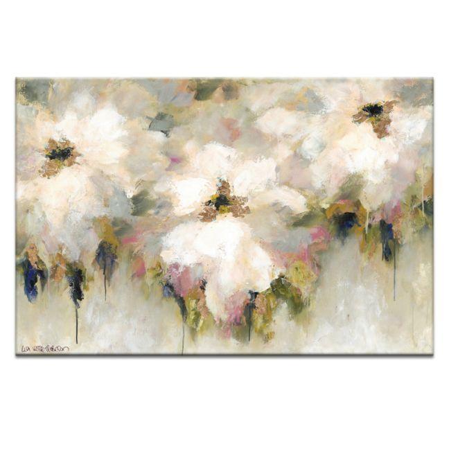 Mint & Peach Blossom Sorbet   Lisa Wisse Robinson   Canvas or Print by Artist Lane