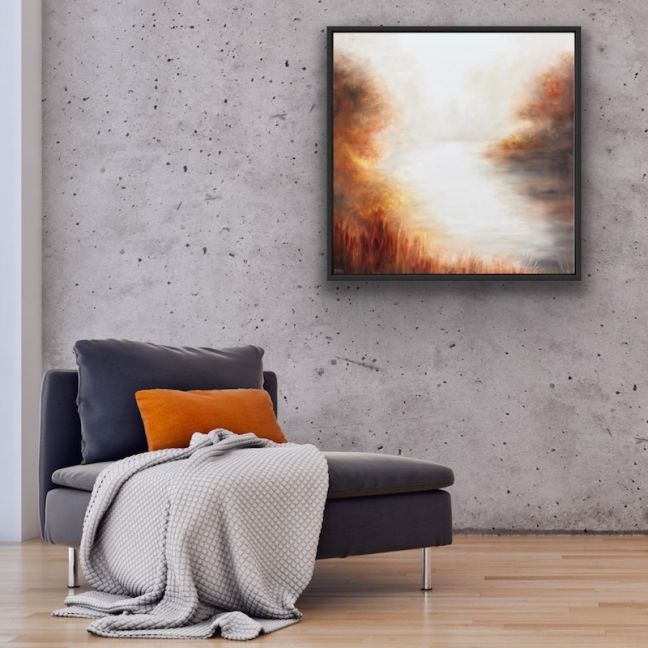 Misty Morning by Cathy Yarwood Mahy | Canvas Print | Art Lovers Australia