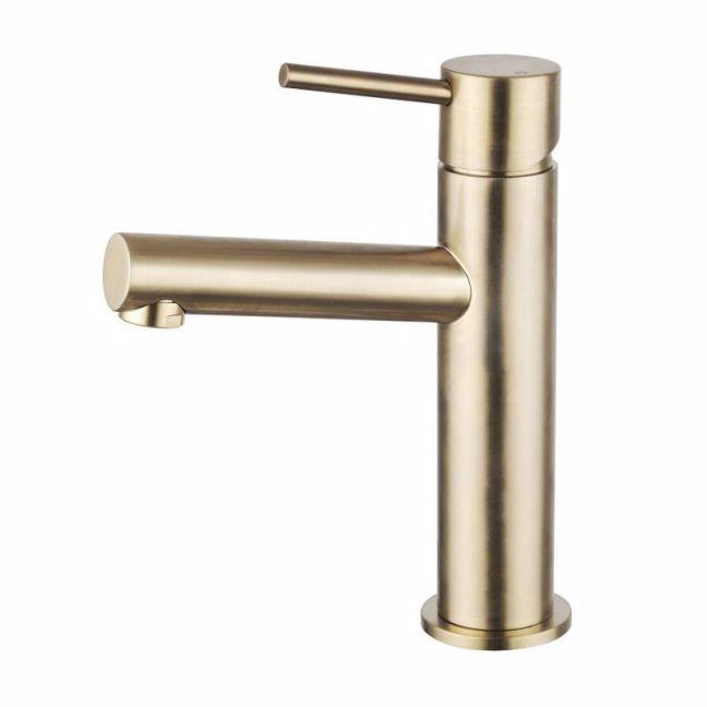 Mizu Drift MK2 Basin Mixer Tap Brushed Gold | Reece