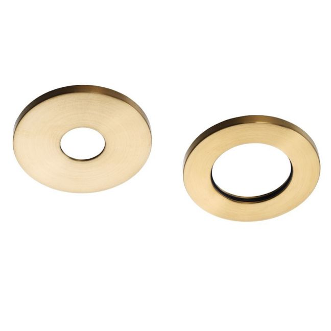 Mizu Drift Mk2 Wall Mixer Cover Plates   2-Piece Brushed Gold   Reece