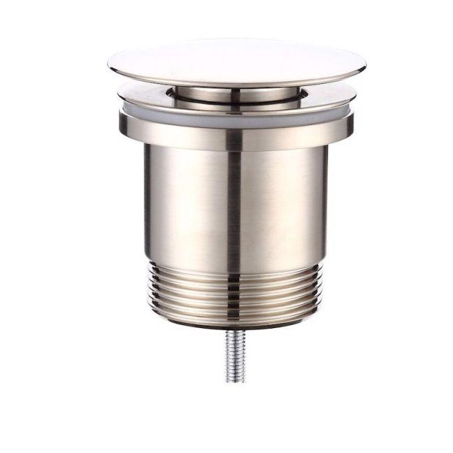 Mizu Drift Uni DN40 Flat Pop Up Plug & Waste Brushed Nickel