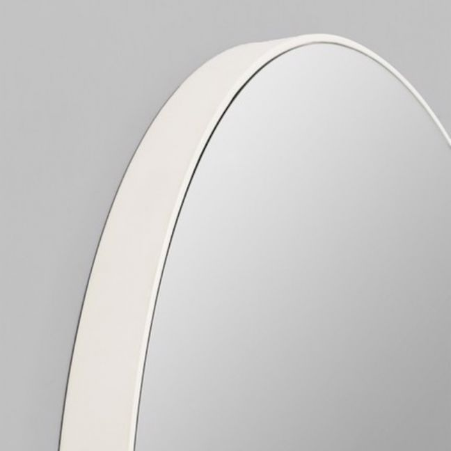 Modern Circular Mirror | White