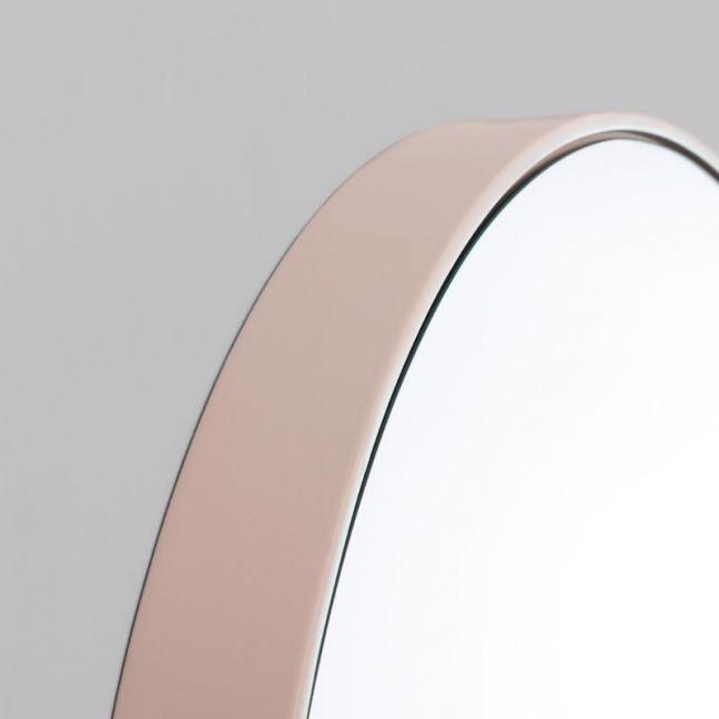 Modern Circular Round Mirror | Blush